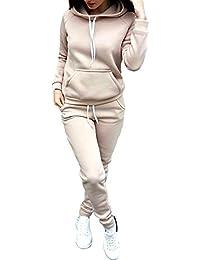 c847dd3918 JackenLOVE Damen Jogginganzug Langarm Anzug Pullover Sportanzug Trainingsanzug  Sweatshirt Anzug mit Hose 2pcs