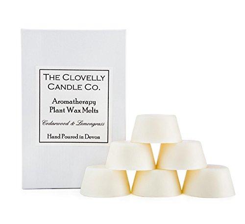 Clovelly Candle | Duftkerzen aus Zitronengras und Zedernholz | In England handgefertigt| Aromatherapie natürliches Sojawachs | 6 Schmelztabletten |Friedlichkeit & Entspannung | 40 Stunden Duft -