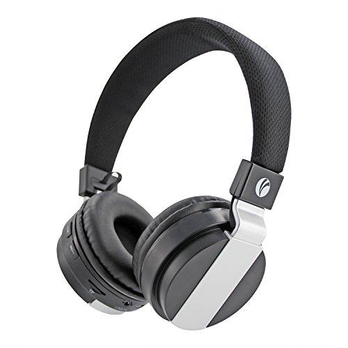 VCOM Cuffie Bluetooth Wireless On Ear, Hi-Fi Stereo Cuffie con cancellazione del Rumore Pieghevole e Integrata Microfono, modalità cablata per PC/iPhone/iPad/Cellulari/TV-Black