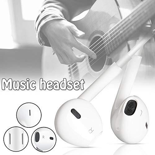 Ohrhörer mit Mikrofon und Fernbedienung, Premium Ohrhörer Stereo Kopfhörer für iPhone XS Max, XS, X, 8,7/8 Plus, 7 Plus (Weiß) - 6