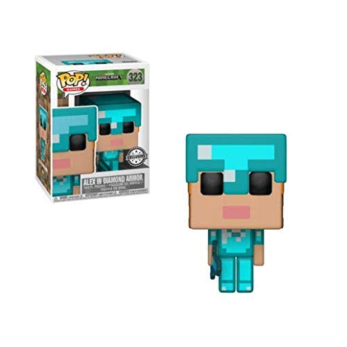 Funko Pop! Minecraft - Alex in Diamant-Rüstung - Vinyl Figur 9cm (Rüstung Spielzeug Minecraft)