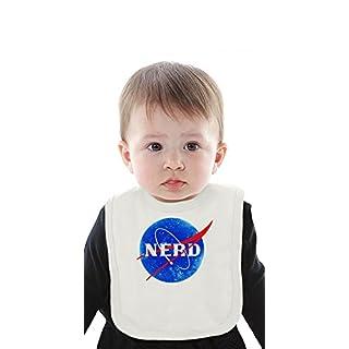 Nasa Funny Logo Nerd Organic Baby Bib With Ties Medium