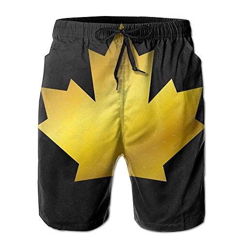 Bai Qian Goldene Kanada Flagge schnell trocken Spitze Boardshort Strand Shorts Hosen Badehose cool Man Badeanzug mit Taschen l