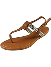 Loudlook Nouveau Femme Dames Cheville Bretelles Summer Flat Mode Sandals Chaussures Grande Taille 3-9