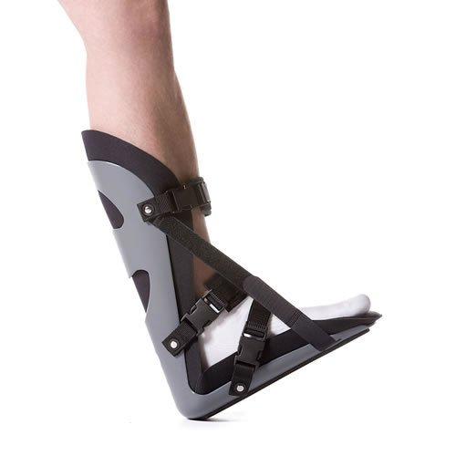 Plantar Fasciitis Nacht Splint (PhysioRoom Nachtschiene für Fersensporn Behandlung Rücken Fuß, schwarz / grau)