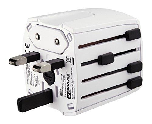 Hama MUV Micro Universal Universal Color Blanco Adaptador de Enchufe eléctrico - Adaptador para Enchufe