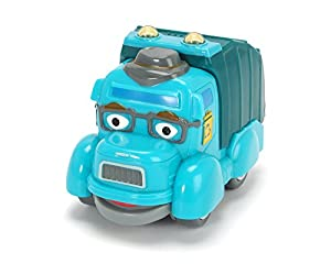 Dickie Toys 203121002Héroes de la Ciudad-Manni Basura Basura eléctrico Auto Incluye Tarjeta de colección