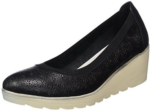 MARCO TOZZI premio Women's 22427 Plateau Shoes, Black (Black Antic 002), 6 UK