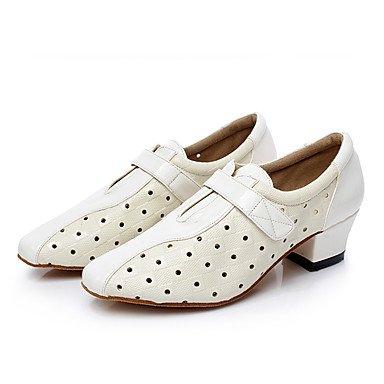 Danza White Pelle personalizzabile da Scarpe balli finta Moderna Moderno Da  Jazz nero Ballo Donna Latino ... 745ca786d42