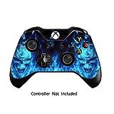 Xbox One Controller Designfolie Sticker - Vinyl Aufkleber Schutzfolie Skin für Xbox One Controller Blue Daemon