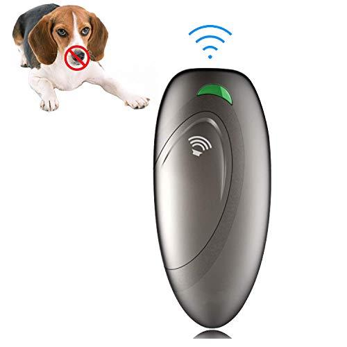 CKOW Ultraschall Hunde Anti-Bell Anti-bark Ultraschall Hundetrainer Anti-Bell-Abwehrmittel für Hunde und Sonic Bark-Reinigungsmittel | Bellenbrecher, der aufhört, Hunde zu bellen (1) -