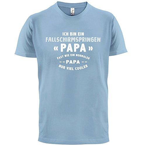 Ich bin ein Fallschirmspringen Papa - Herren T-Shirt - 13 Farben Himmelblau