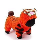 Y-Hui Katze Hund Kostüm Kleidung/Overall Hund Kleidung niedliche Cosplay Urlaub Cartoon Orange, L, Orange