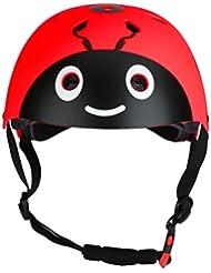 TiaoBug 7Pcs Casco Rodilleras Infántiles para Niños Niñas Equipamiento Protector para Aprender Patines Cilismo Bicicleta BMX Monopatín Juego con Muñequeras Coderas