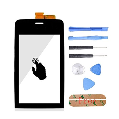 Black With Tools Touch Digitizer Panel Front Glass Screen Accessories & Sensor Flex Cable For Nokia Asha 308 309 310  available at amazon for Rs.1499