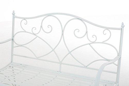 Gartenbank Felicita aus Eisen l Landhausstil l Metall weiß - 5