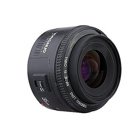 Yongnuo YN35mm F2 Objektiv 1: 2 AF / MF-Weitwinkel-Fest / Prime Autofokus-Objektiv für Canon EF Befestigung EOS Kamera mit WINGONEER Diffusor