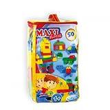 Mochtoys Maxi Bausteine Set 5789, 50 Teile, Tasche mit Henkel ab 1 Jahr