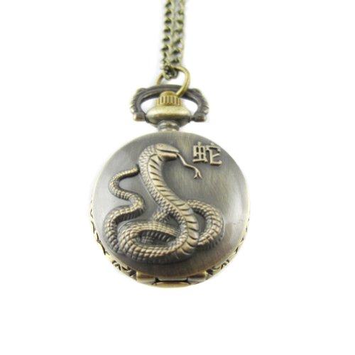 mapofbeauty-bronze-chinese-zodiac-snake-pattern-case-quartz-pocket-watch