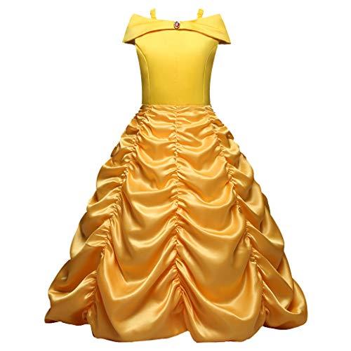 Silber Kostüm Belle - Likecrazy Mädchen Prinzessin Kostüm Belle Kleid Baby Mädchen Belle Kostüme Karneval Prinzessin Dress Halloween Party Kleider Abschlussball Ballkleid Faschingskostüm