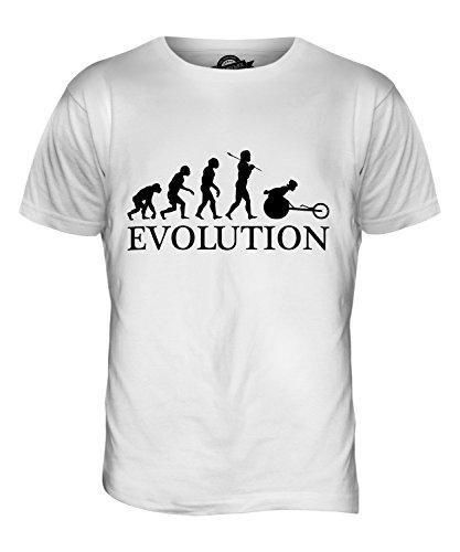 CandyMix Rennrollstuhl Rollstuhlrennen Evolution Des Menschen Herren T Shirt Weiß
