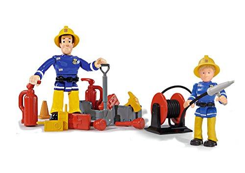 - 41I urN2r6L - Simba 109257661 – Feuerwehrmann Sam Jupiter Feuerwehrauto mit 2 Figuren, 28 cm