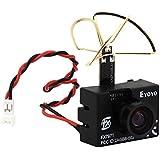 Eyoyo 3 In 1 Fx797 T Super Mini 5.8 G Tx 600 Tvl Mini Fpv Camera 40ch Av Video Transmitter Leaf Antenna Combo 4.5g Weight Only