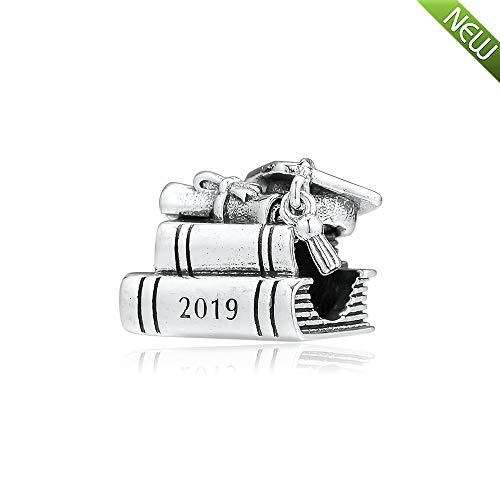 PANDOCCI 2019 Mutter Tag Geschenk Cap Buch & Scroll Bead 925 Silber DIY passt für Original Pandora Armbänder Charme Modeschmuck -