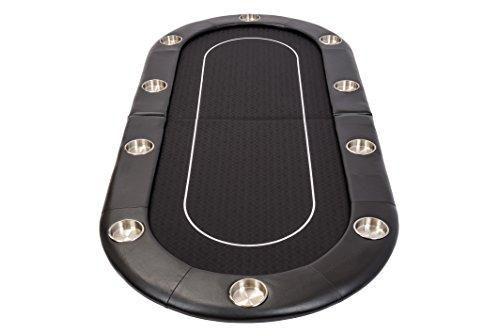Riverboat Faltbare Pokerauflage mit Schwarzem wasserabweisenden Stoff und Tasche - Pokertisch 200cm - 4