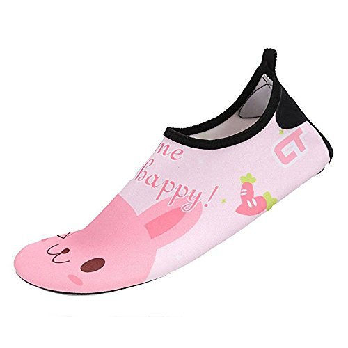 SITAILE Aquaschuhe Barfuß Schuhe Schwimmschuhe Badeschuhe Wasserschuhe Surfschuhe Sportschuhe für Kinder Hase EU 24-25