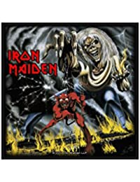Classic rock guitar iron maiden coutures-the number of the beast-classic rock guitar iron maiden patch-tissé & licence!
