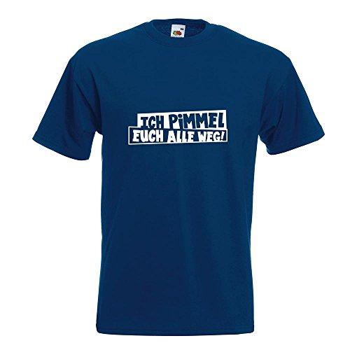 KIWISTAR - Ich pimmel euch alle weg! T-Shirt in 15 verschiedenen Farben - Herren Funshirt bedruckt Design Sprüche Spruch Motive Oberteil Baumwolle Print Größe S M L XL XXL Navy