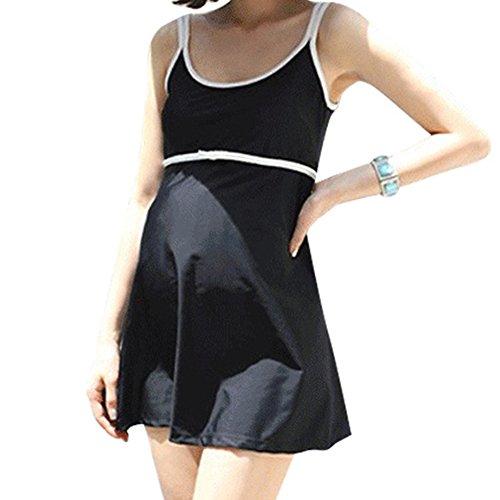 erschaft Schwangerschaft Einteilige Plus Size Kostüm Bademode Badeanzug Weich Swimdress Swimsuit Schwarz (Entwerfen Von Frauen Kostüm)