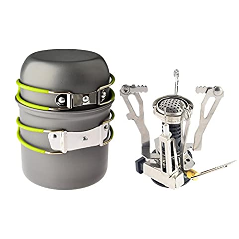 Camping Stoves, iTECHOR Portable Folding Split Style Gas Stove Furnace Burner Outdoor Camping Hiking Picnic Cookware