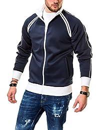 39c04719161715 JACK   JONES Herren Sweatjacke mit Stehkragen Freizeitjacke Leichte Jacke