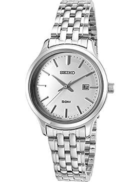Seiko Damen-Armbanduhr Analog Quarz Edelstahl SUR799P1