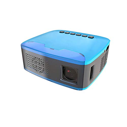 Mini-Projektor, tragbarer Heimprojektor mit 1080 Full HD und 110 Zoll großem Bildschirm, kompatibel mit AV/HDMI/USB/TF/Mini USB -
