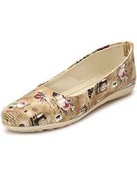 AlexaStar Women Flat Belly Shoes Comfortable Slip On Pointed Toe Girls  Ballet Flats Bellies   9536af6d2b9