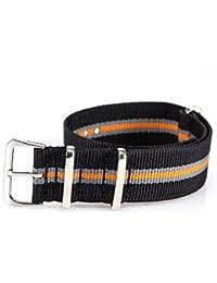 EASTPOLE 20mm Military Fashion STRIPPED Nylon Sport Watch Band Straps For Men Lady WB2009