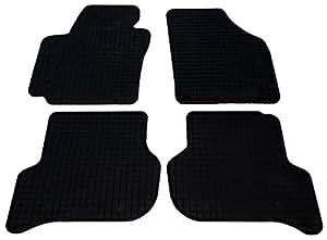VW Golf V 5 Plus ab Bj.02/2005 - Fußmatten Set Gummi, schwarz