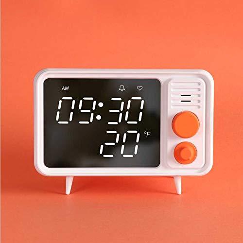 Retro-TV-Wecker Multifunktions-TV-Styling-Spiegel Uhr kann mit Nachtlicht elektronische Uhr aufgezeichnet werden