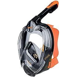 Seac Unica MD, Masque de Plongée Faciale pour le Snorkeling pour Enfants (10+), Jeunes et Petits Visages, Masque Intégral avec Vision à 180 °