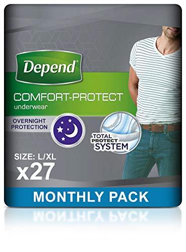 Depend grande/XL Super absorbentes Incontinencia ropa interior para hombres-Pack de 27)