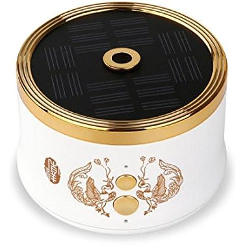 New day-Generale Auto elettronico Aromaterapia solare Macchina anioni Auto Cleaner Mini Macchina Aromaterapia , white , 57*90mm