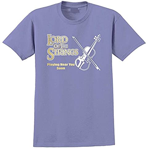 Fiddle Lord Strings Soon - Musica T Shirt 13 Taglia 5 Anni - 6XL 9 Colori MusicaliTee - 8 String Pickup