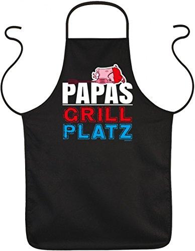 Schürze zum Grillen - Papas Grill Platz - witzige Geschenk-Idee für humorvolle Griller im Set mit lustiger ()
