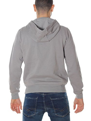 North Sails Herren Sport Kapuzenpullover Lowell Sweat Hoodie Bollo Grigio
