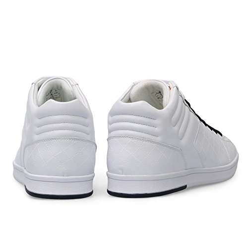 Boss Green Ray Adv Mid Homme Baskets Mode Blanc Blanc