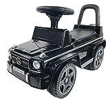 BUSDUGA Mercedes Benz G63 Rutscher, Kinderfahrzeug mit Kippschutz ( ab 18 Monate ) - wählen Sie ihre Farbe (G-Klasse Schwarz)