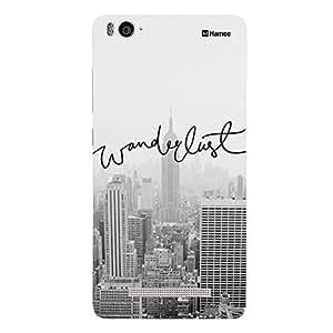Customizable Hamee Original Designer Cover Thin Fit Crystal Clear Plastic Hard Back Case for Xiaomi Mi 4i / Mi4i (Grey Wanderlust)